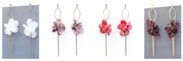 Collection Florescence: de grandes boucles d'oreilles délicates et élégantes en verre de Murano