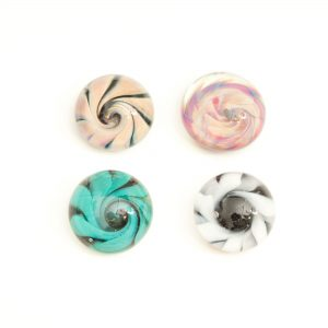 Cabochons en verre spirale