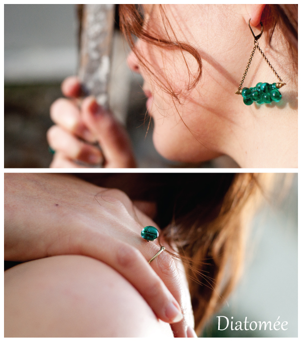 Collection Romi, déclinaison vert émeraude