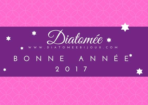 Bonne année 2017 de la part de Diatomée bijoux en verre