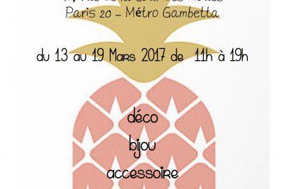 Exposition éphémère du 14 au 19 mars 2017
