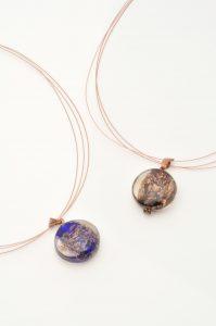 Colliers en verre filé au chalumeau paris