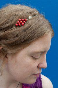 Headband bijoux de tête en verre filé au chalumeau paris