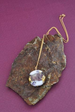 Collier en verre filé au chalumeau paris