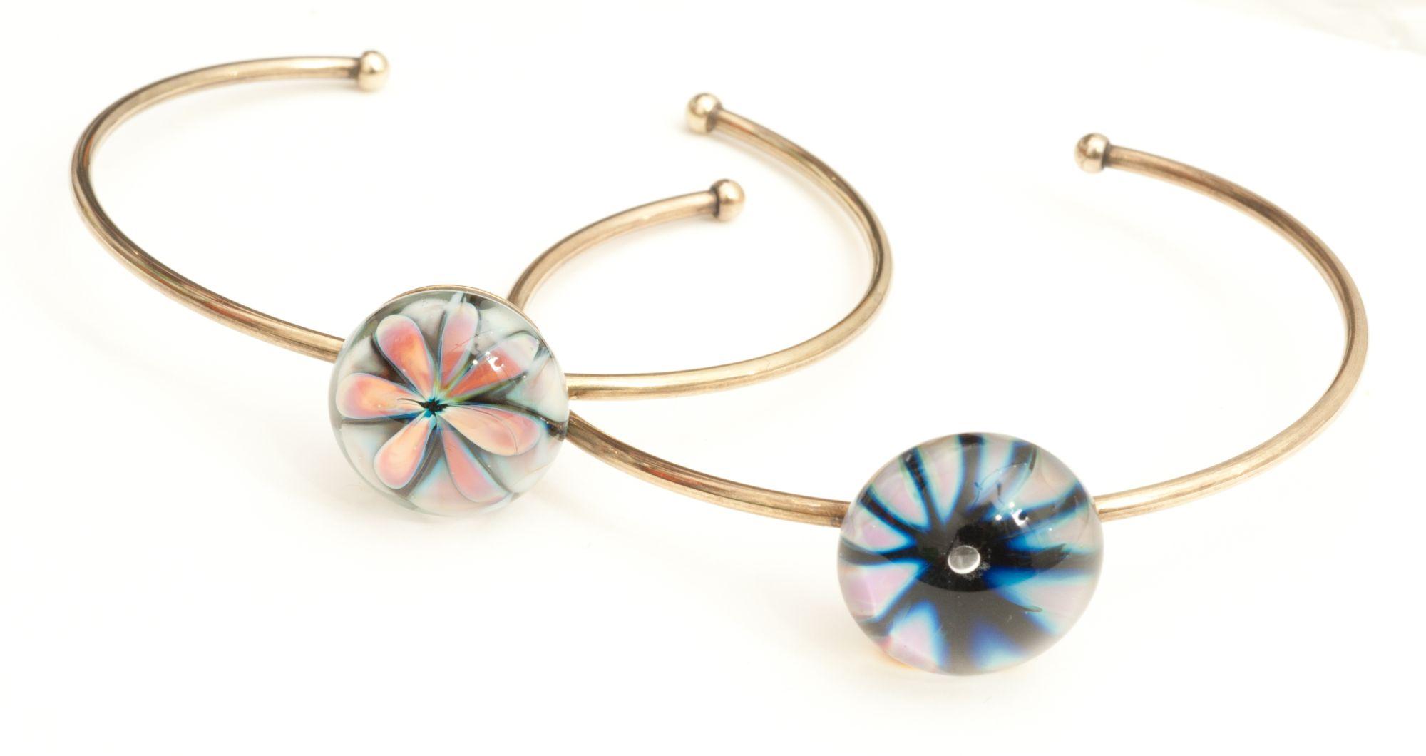 Bracelets en verre filé au chalumeau paris