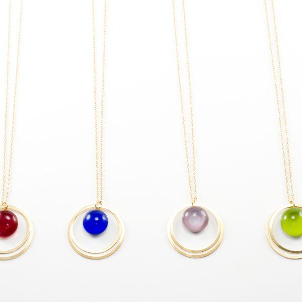 Bijoux verre filé et dorés à l'or fin fabriqués à Paris