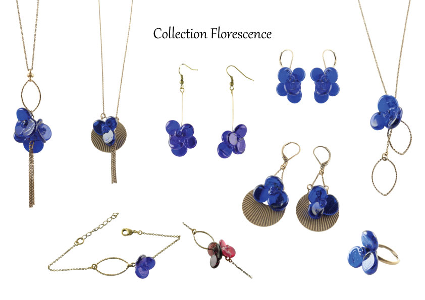 Collection Florescence, bijoux en verre artisanales Paris 14ieme