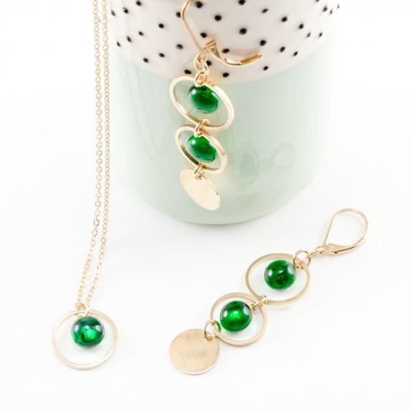 Collection Mélisande, bijoux dorés à l'or fin