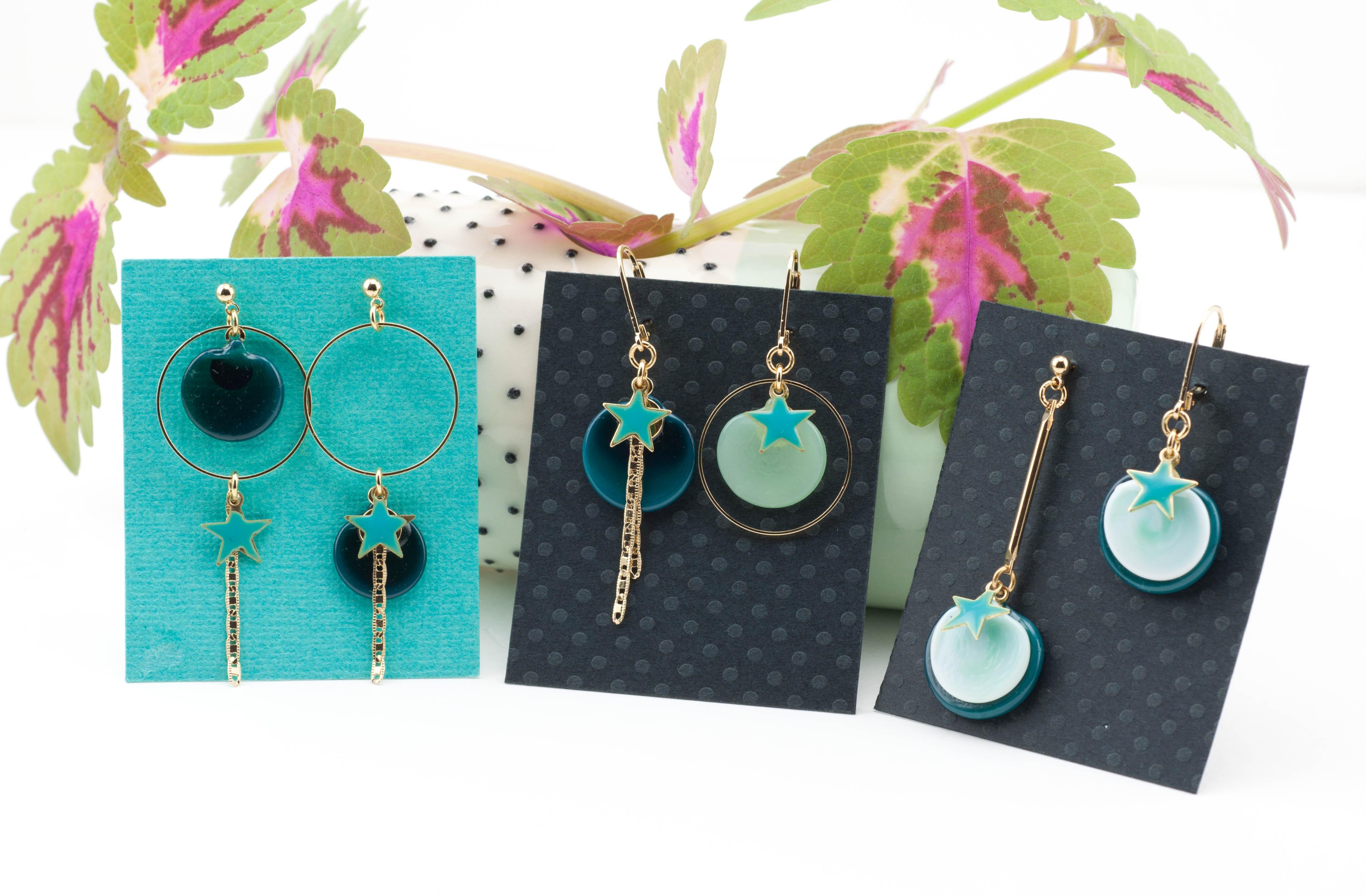 Collection ma bonne étoile, bijoux en verre paris 14 création artisanale
