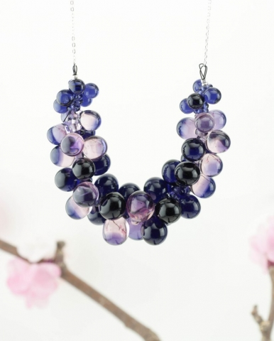 Collection ROMI XXL, bijoux en verre Paris, création artisanale