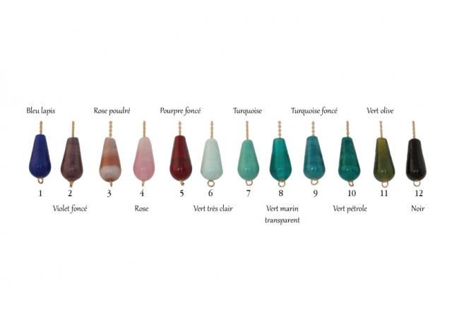 Collection Néima, bijoux en verre au chalumeau artisanales Paris 14