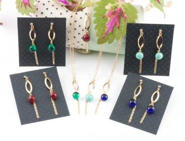 Collection Eve, bijoux en verre au chalumeau artisanales Paris 14